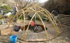 Sunseed builds a temazcal (steam room)